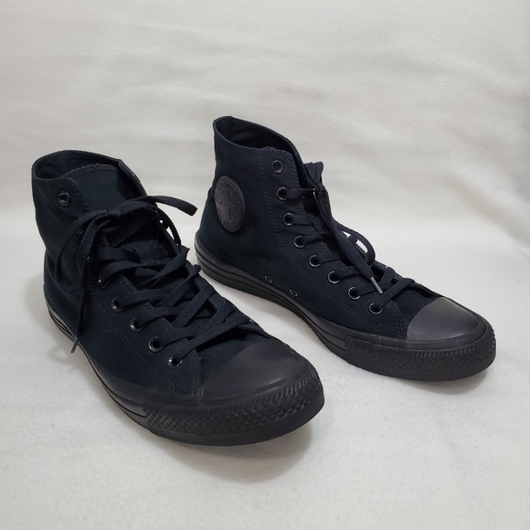 Converse Solid Black High Top Sneakers
